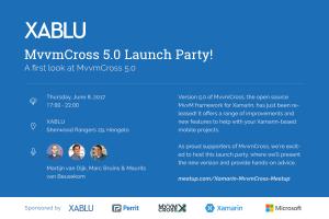 MvvmCross 5 launch party June 8 2017